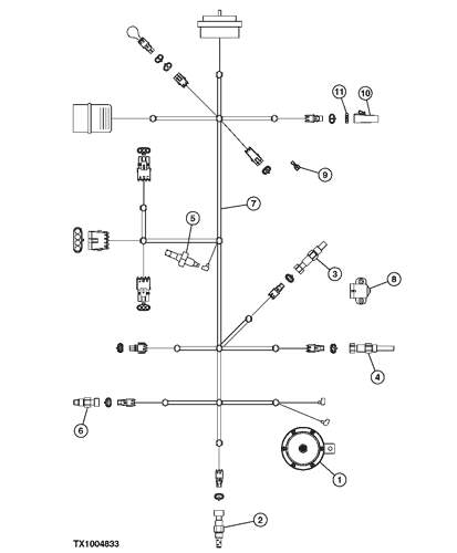 john deere 410g wiring diagram 410g backhoe  loader engine front wiring harness  951255   epc  engine front wiring harness