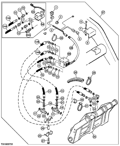 john deere 410g wiring diagram 410g backhoe  loader hydraulic front coupler   944081  epc  backhoe  loader hydraulic front coupler