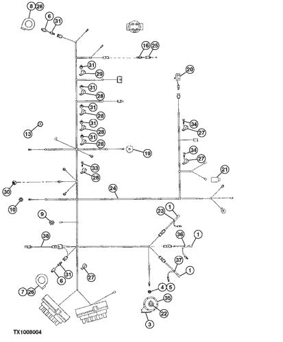 [QMVU_8575]  210LE - LOADER Engine Wiring Harness ( - 880053) EPC John Deere online | 210le Wiring Diagram |  | AVSpare.com