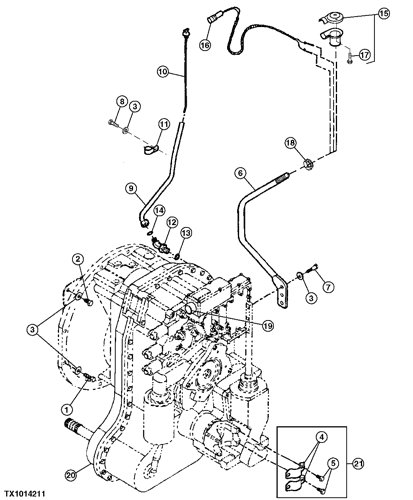 [SCHEMATICS_4FR]  210LE - LOADER TRANSMISSION GEARSHIFT LEVER, WIRING HARNESS, DIPSTICK AND  COMPLETE TRANSMISSION (SYNCSHUTTLE™) EPC John Deere online | 210le Wiring Diagram |  | AVSpare.com
