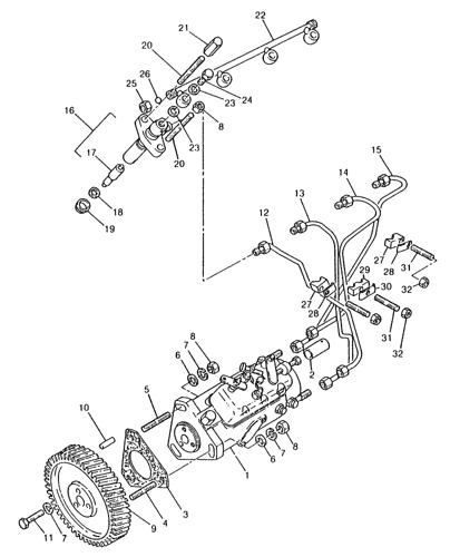 L779) - NH SKID STEER LOADER (7/80-7/83) (076) - FUEL INJECTION PUMP &  LINES, PERKINS 4.203.2 DIESEL ENGINE New Holland ConstructuionAVSpare.com