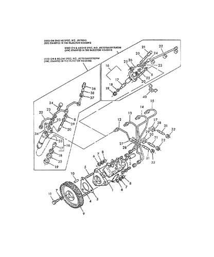 L783) - NH SKID STEER LOADER (7/88-10/94) (081) - FUEL INJECTION PUMP &  LINES, PERKINS 4.203.2 ENGINE, L781, L783 & L785 New Holland ConstructuionAVSpare.com