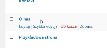 wordpress usuń strone