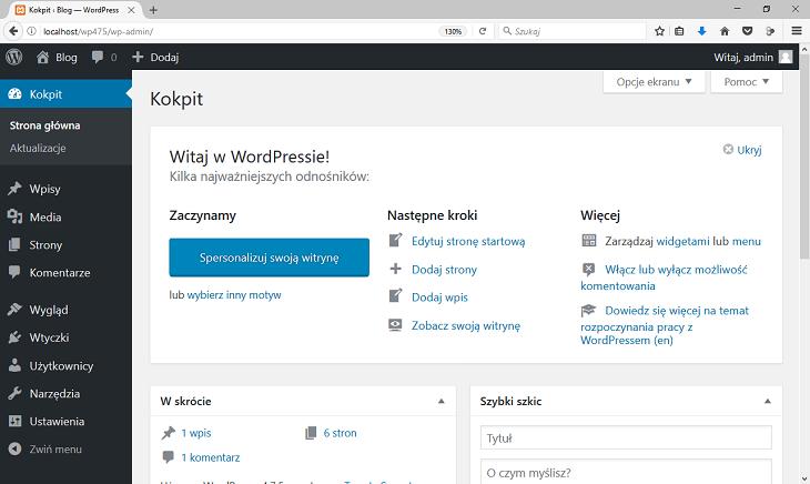 wordpress kokpit