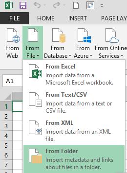 excel import danych z folderu
