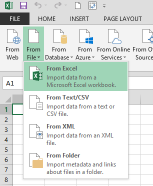 excel import danych