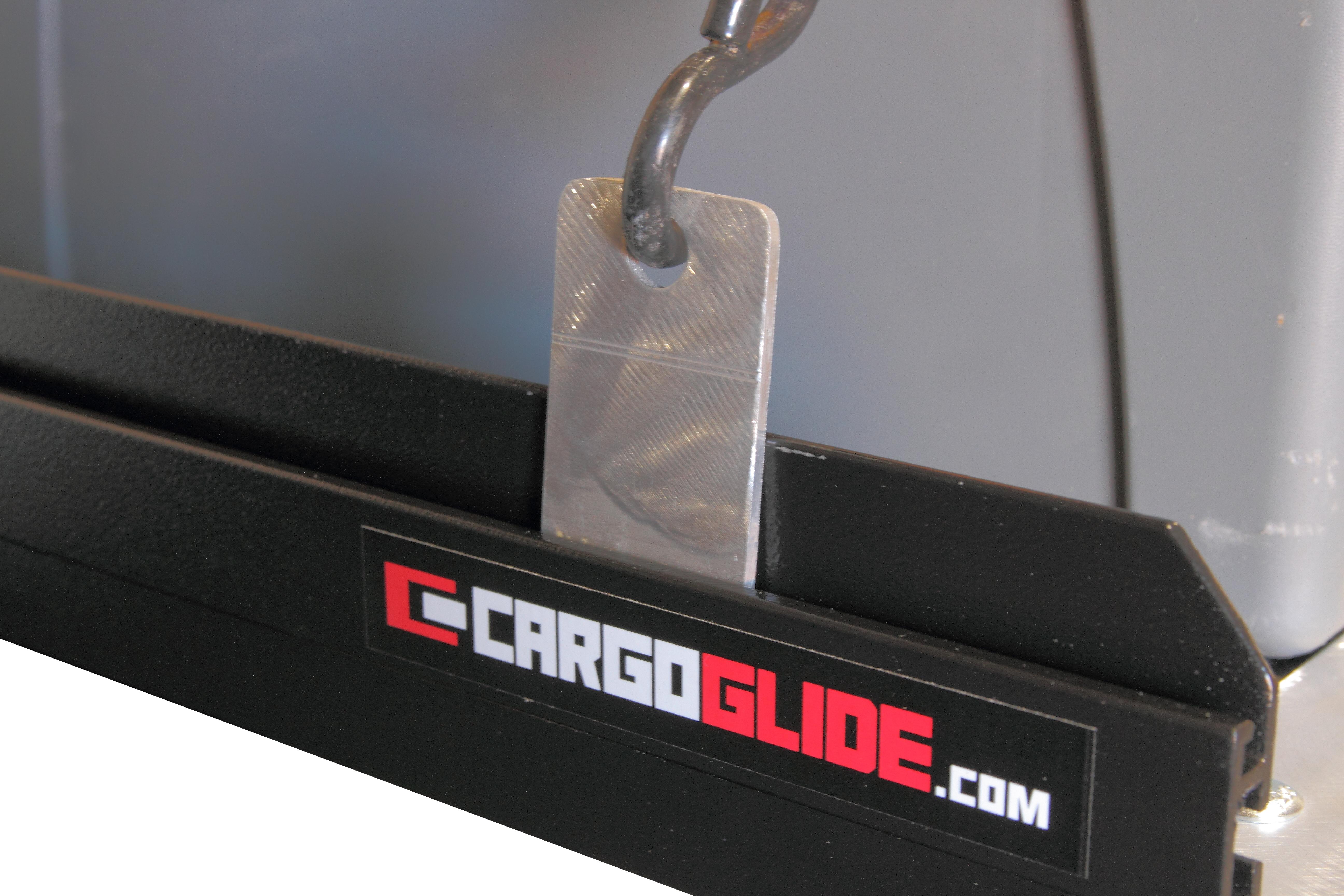 CargoGlide CGCLTD-4 CargoTrack - Adjustable Outside Track Sliding Clip In Tie Down Clips