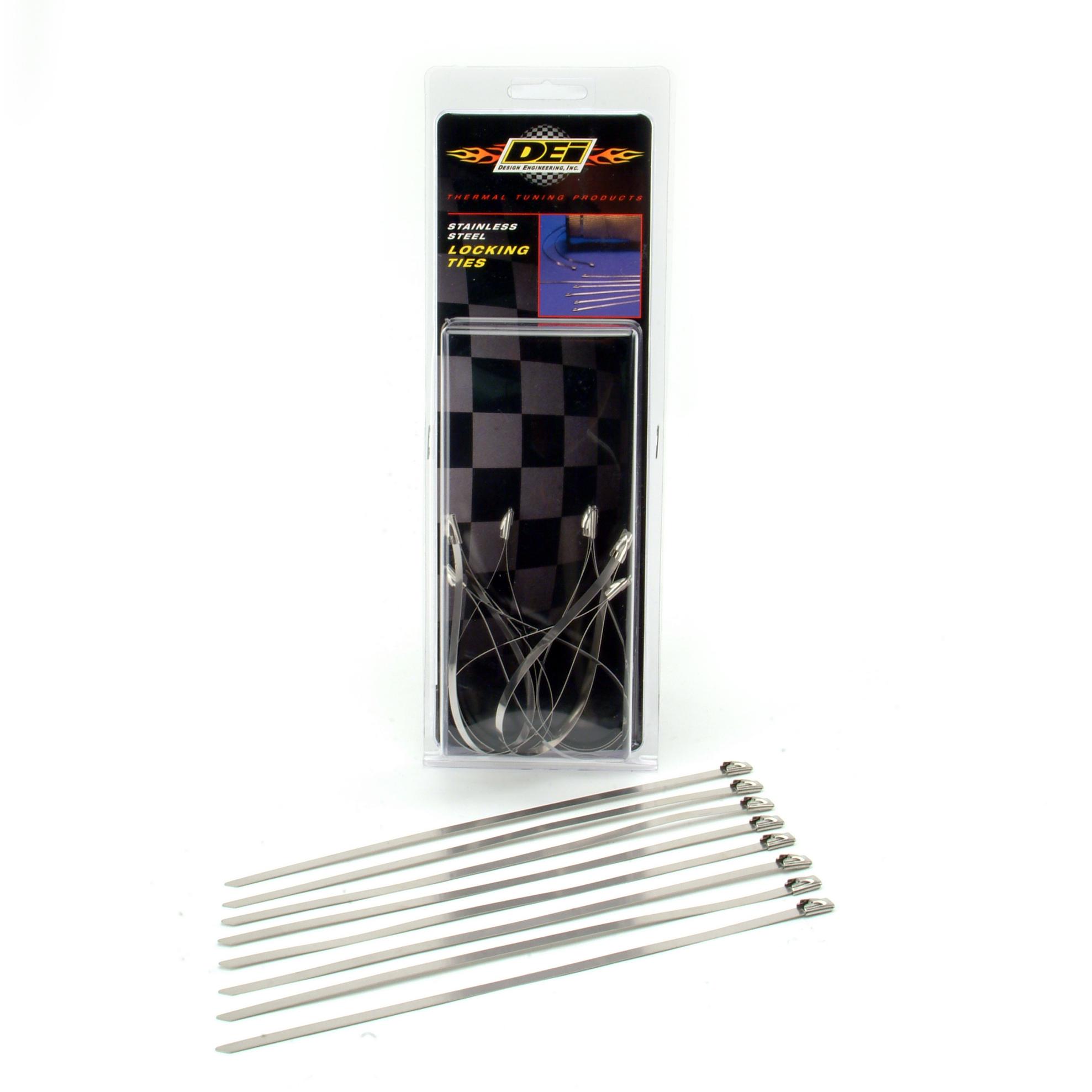 """Design Engineering, Inc. 010201 Stainless Steel Locking Ties 8"""" (8 per pack)"""