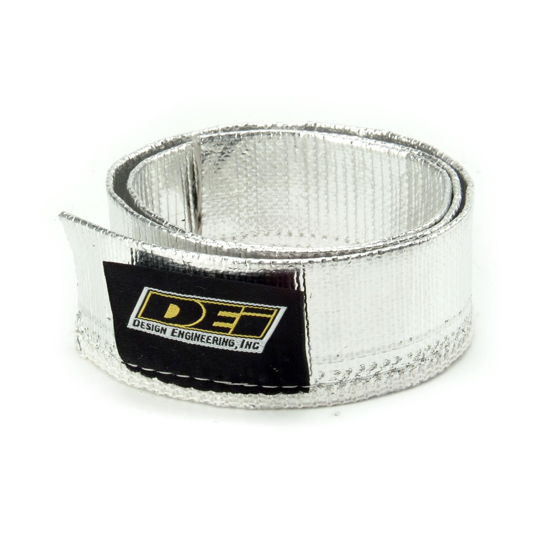 "Design Engineering, Inc. 010404 Heat Sheath - Aluminized Sleeving (Sewn) 1-1/4"" x 36"""