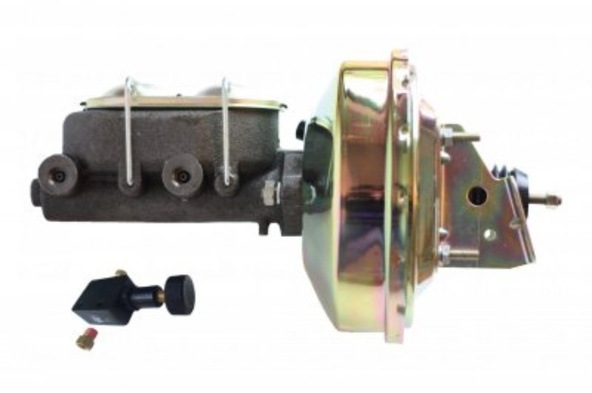 LEED Brakes 1E105 9 in Power Booster ,1-1/8in Bore,Adjustable valve (Zinc)