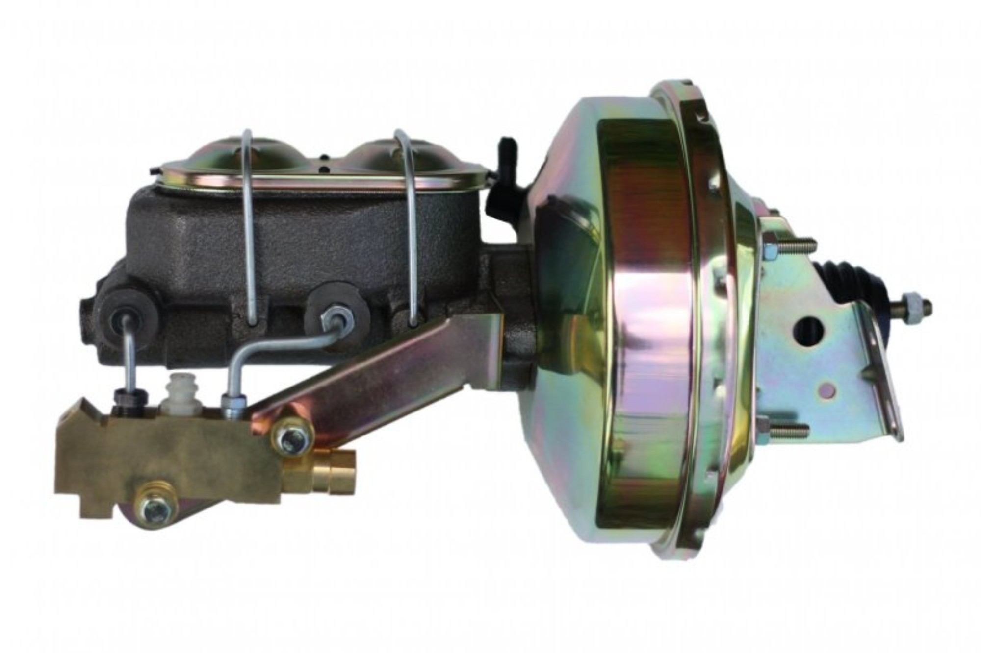 LEED Brakes 1E1A1 9 in Power Booster ,1-1/8in Bore, side valve disc/drum (Zinc)
