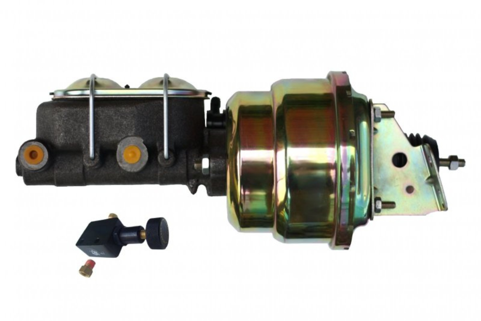 LEED Brakes 1K105 7 in Dual Power Booster ,1-1/8in Bore,Adjustable valve (Zinc)
