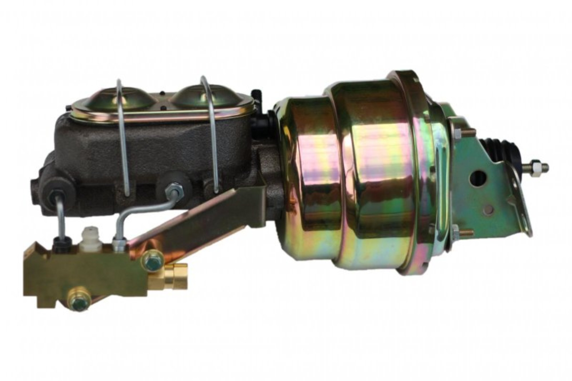 LEED Brakes 1K1A1 7 in Dual Power Booster ,1-1/8in Bore, side valve disc/drum (Zinc)