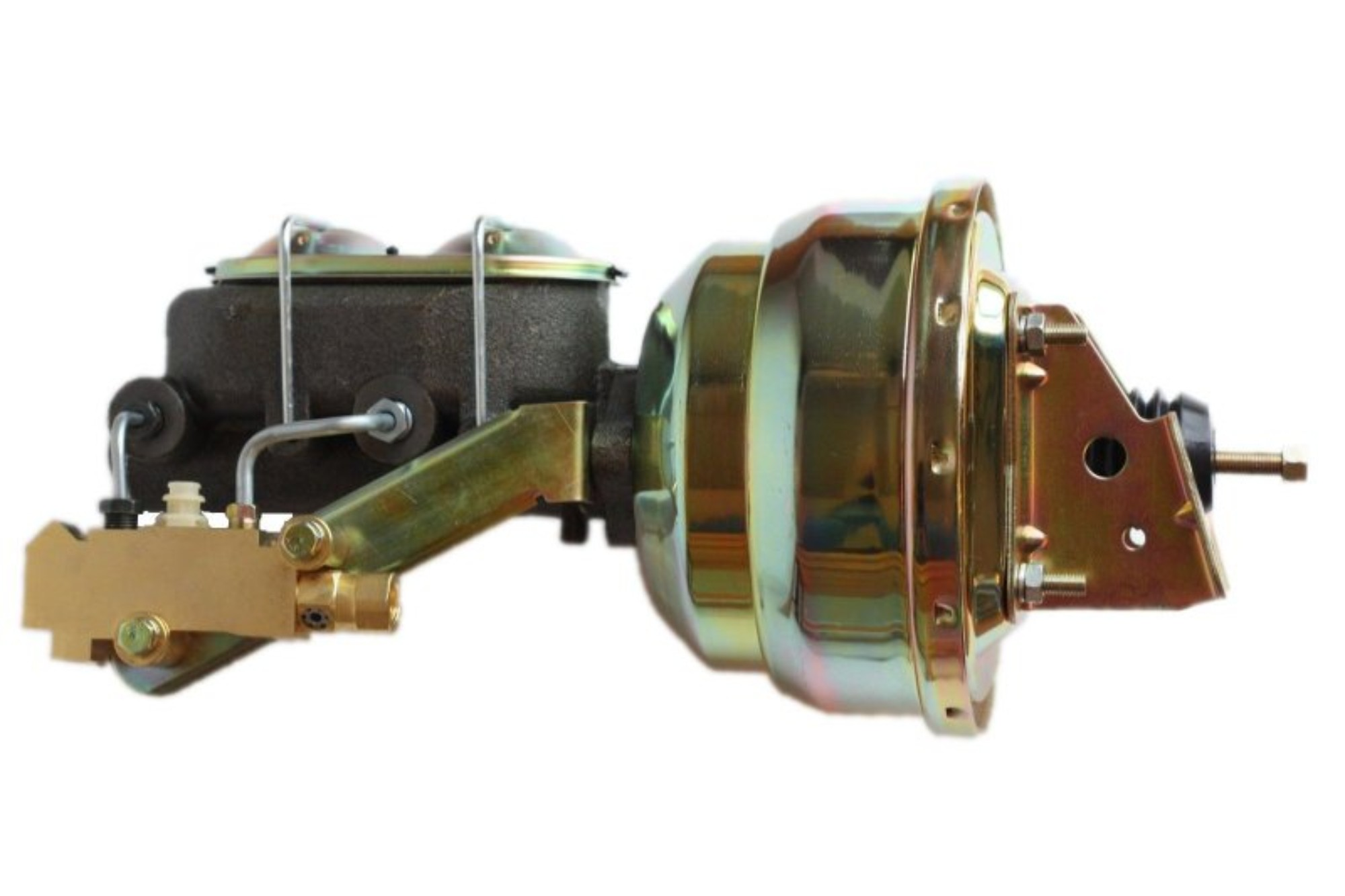 LEED Brakes 1M1A1 8 in Dual Power Booster ,1-1/8in Bore, side valve disc/drum (Zinc)