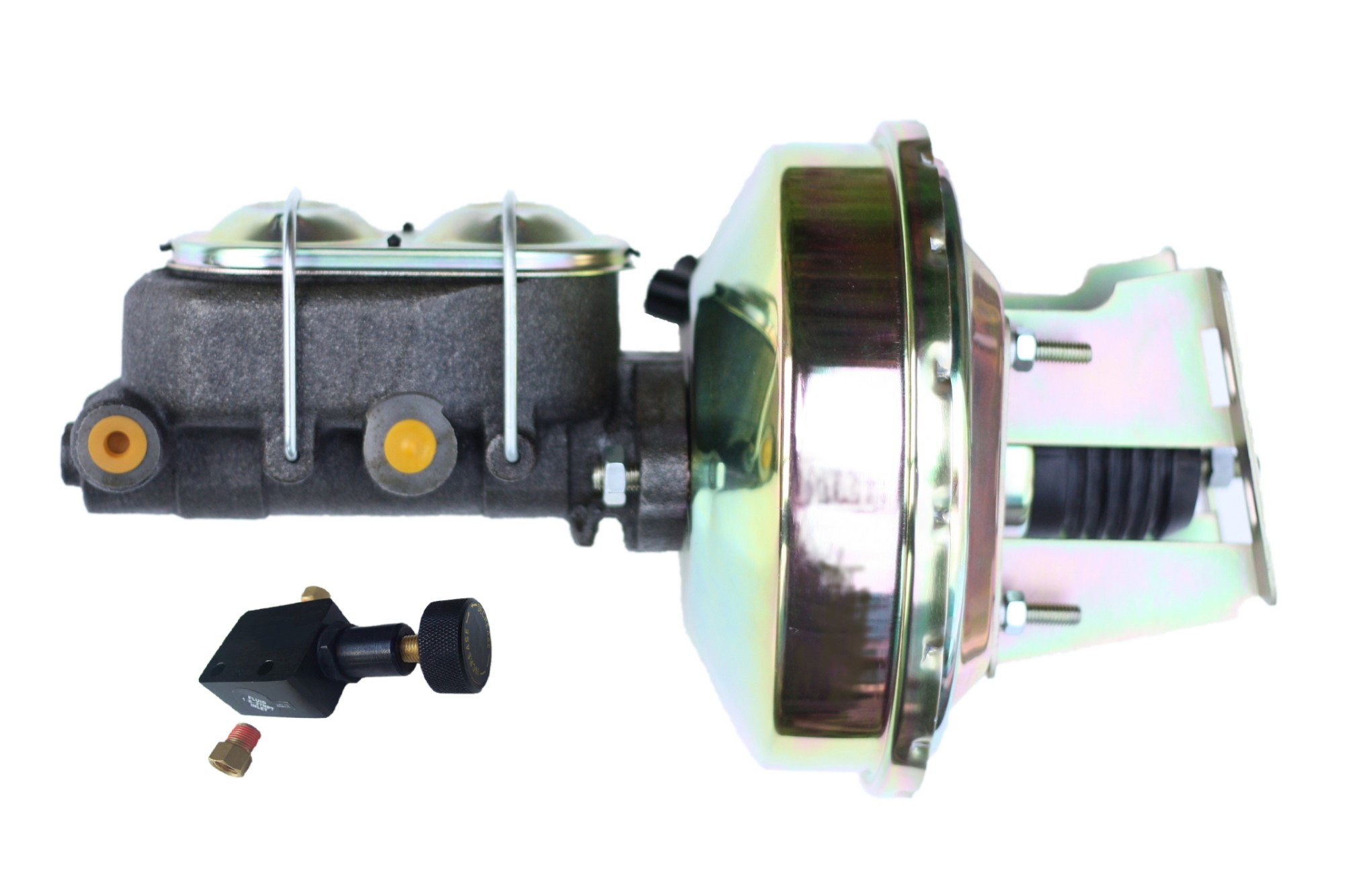 LEED Brakes 3E105 9 in Power Booster ,1-1/8in Bore,Adjustable valve (Zinc)