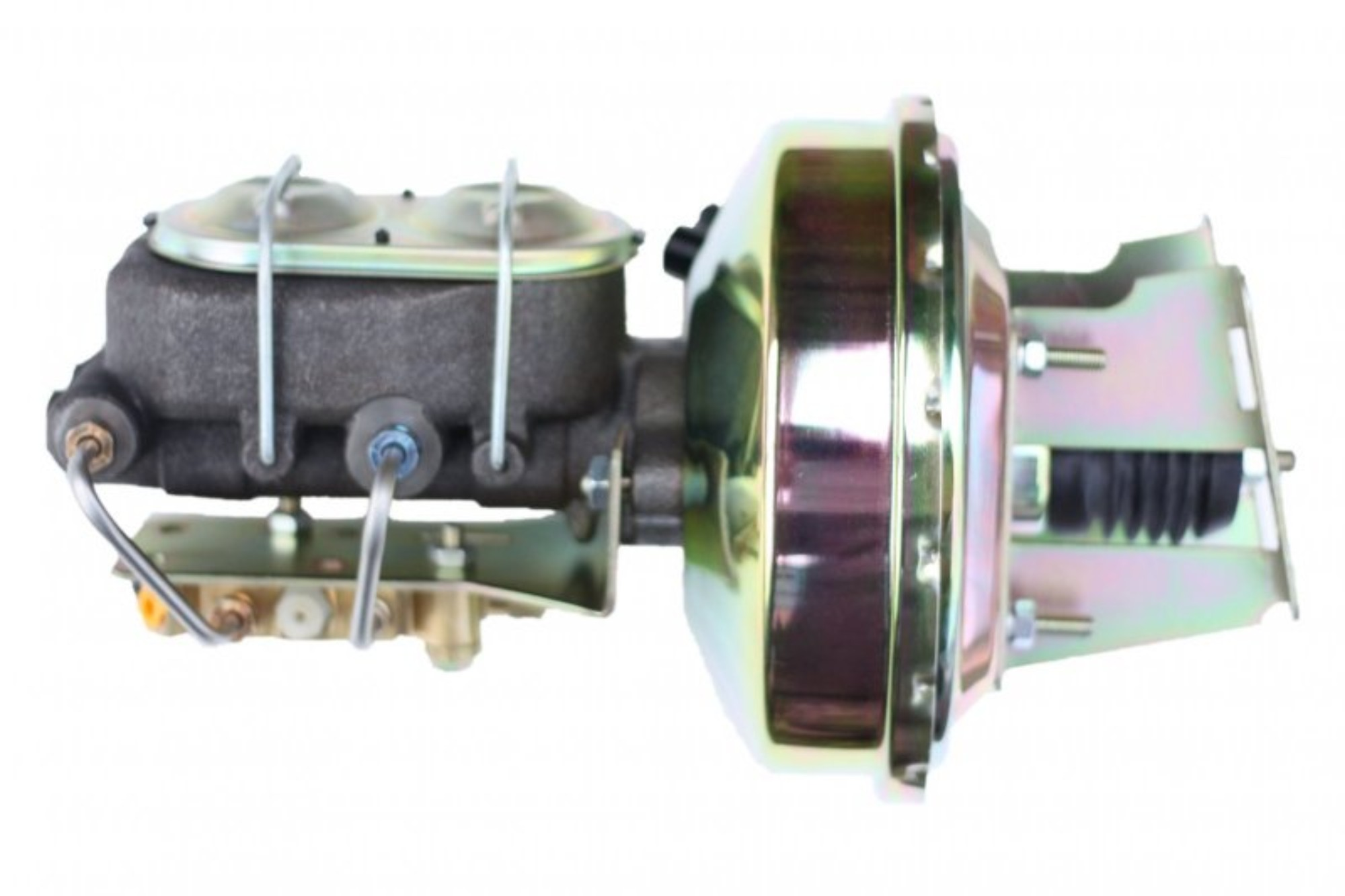 LEED Brakes 3E181 9 in Power Booster ,1-1/8in Bore, bottom valve disc/drum (Zinc)