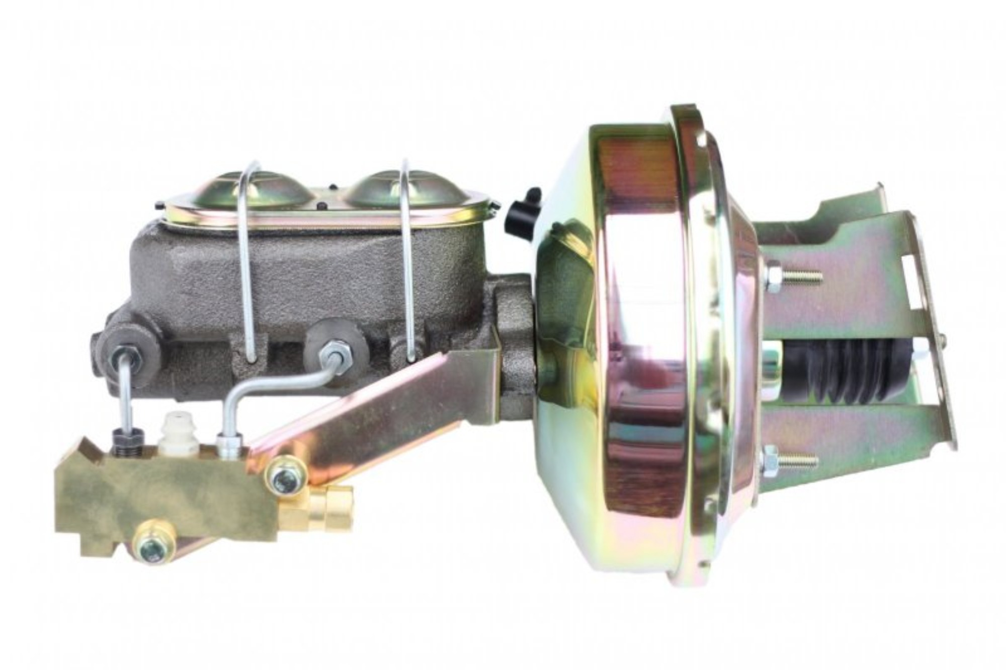 LEED Brakes 3E1A1 9 in Power Booster ,1-1/8in Bore, side valve disc/drum (Zinc)