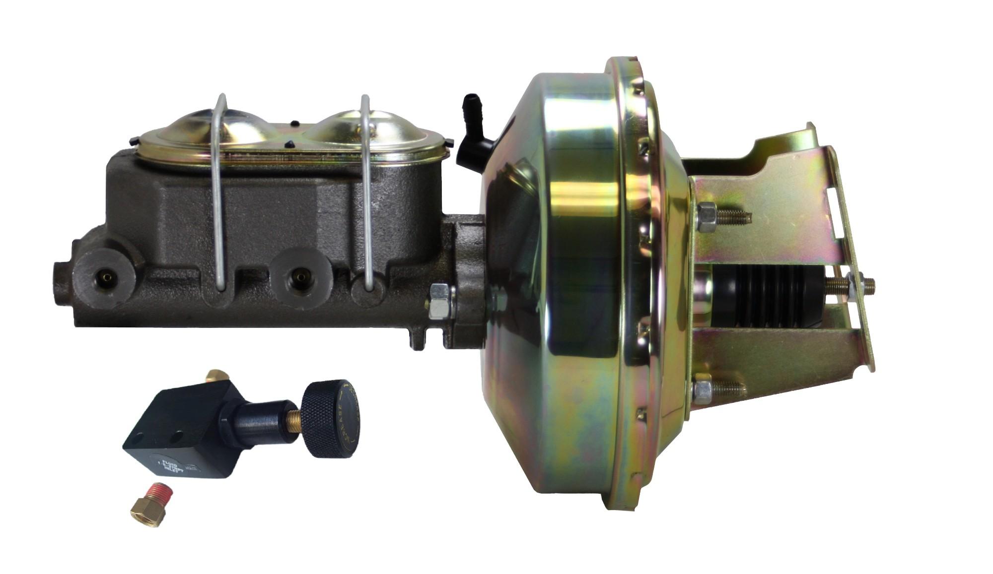 LEED Brakes 3E305 9 in Power Booster ,1-1/8in Bore, Adj Prop Valve (Zinc)