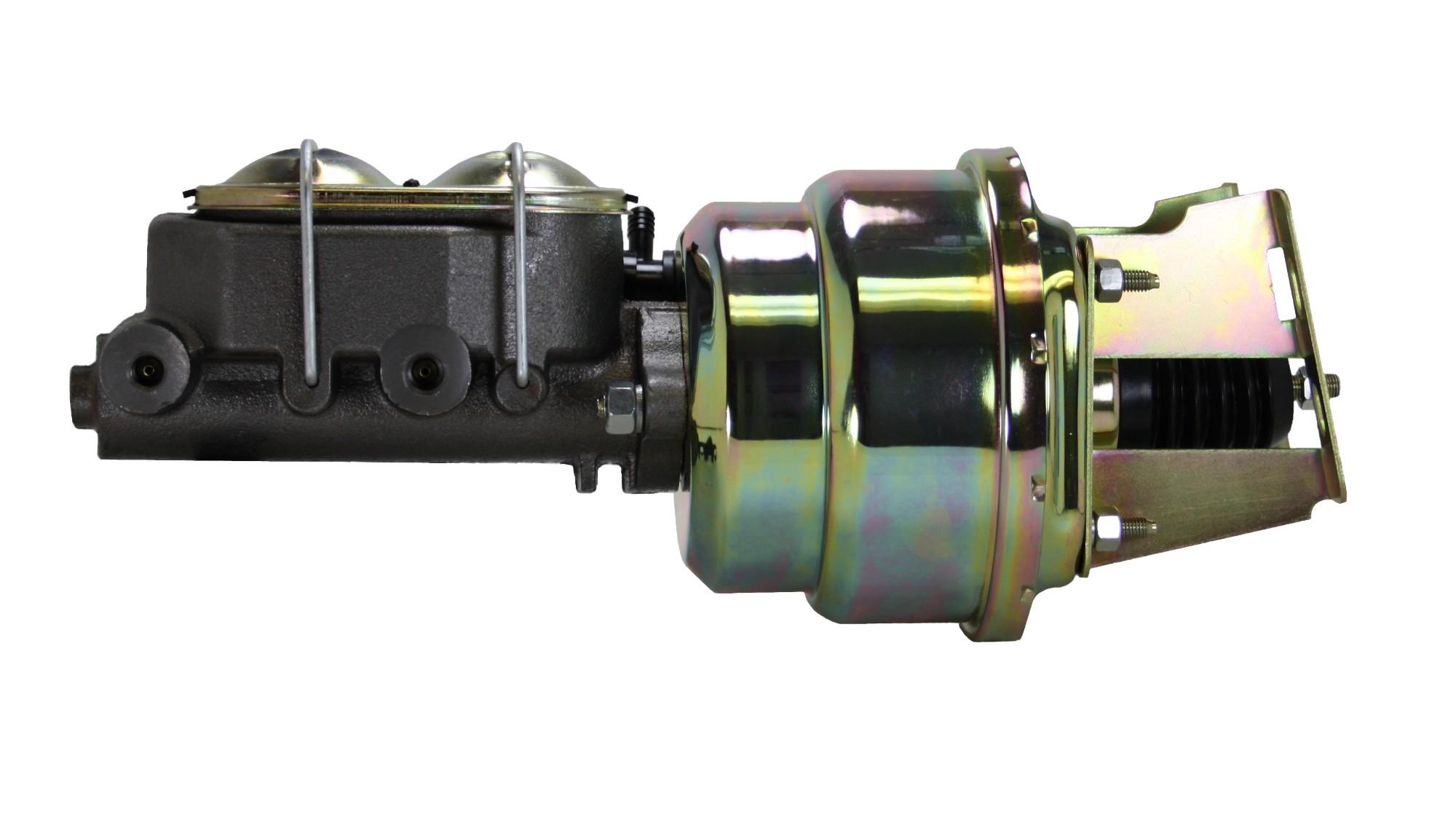 LEED Brakes 3K1 7 in Dual Power Booster ,1-1/8in Bore, (Zinc)