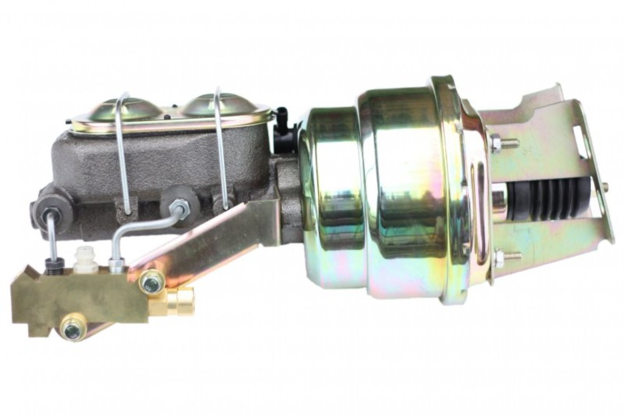 LEED Brakes 3K1A3 7 in Dual Power Booster ,1-1/8in Bore, side valve disc/disc (Zinc)
