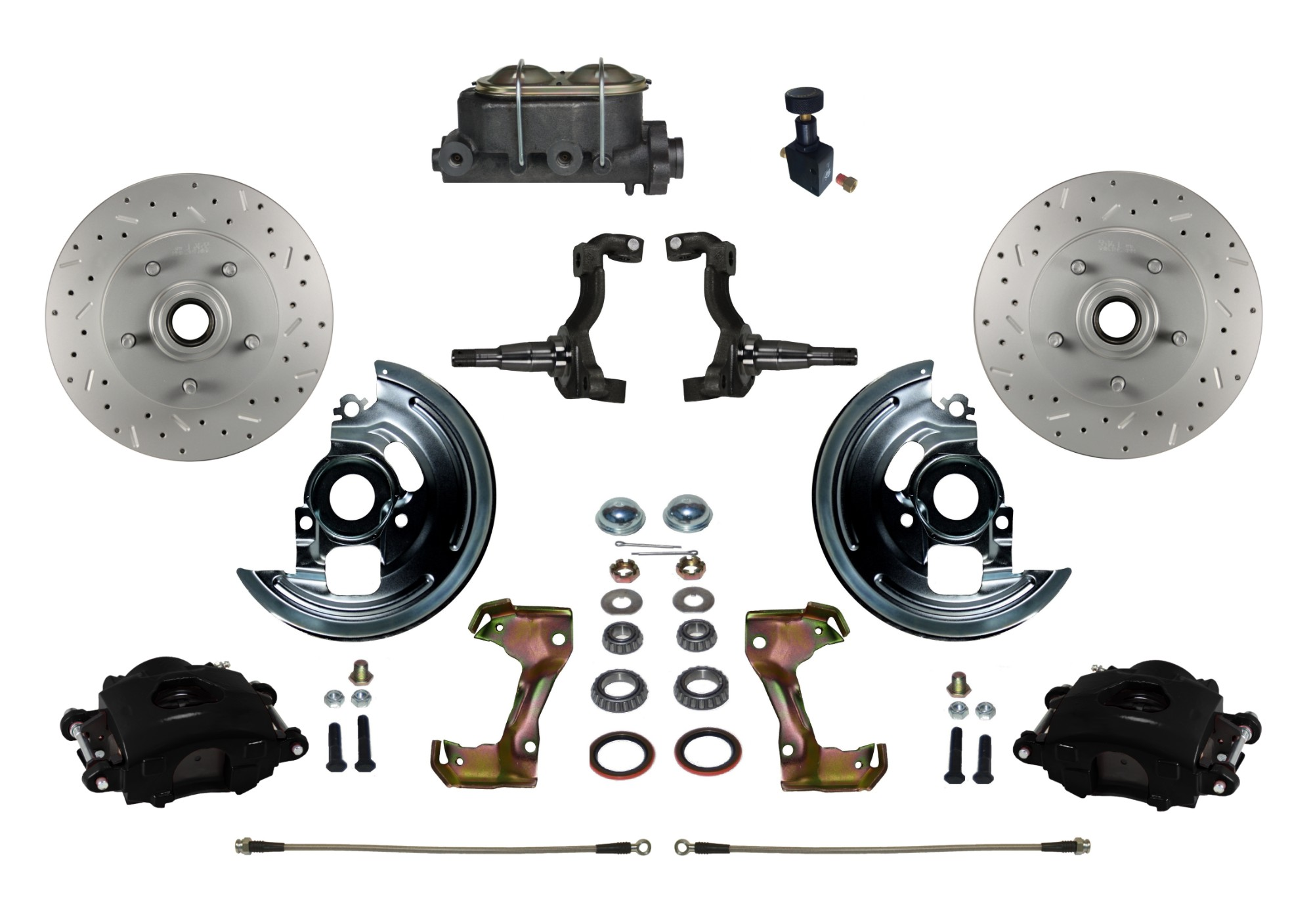 LEED Brakes BFC1002-305X Front Disc Brake Kit - Manual Brakes - Black - MaxGrip