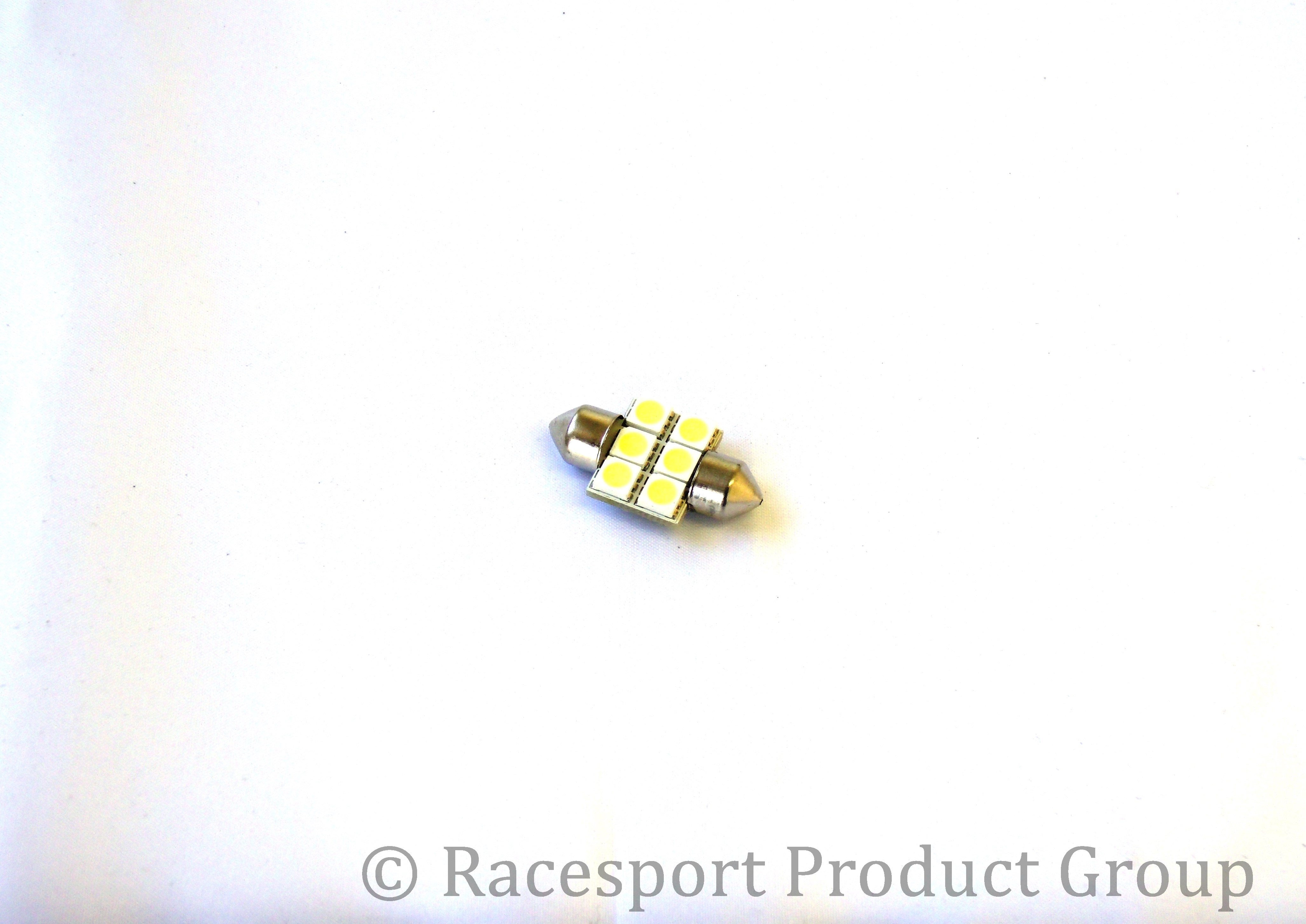 Race Sport Lighting RS-31mm-R-5050 31mm LED 6 Chip Bulbs - each Red