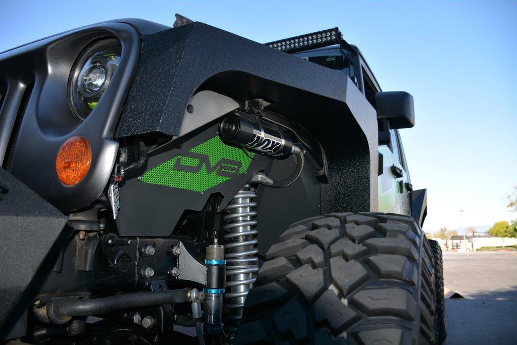 DV8 Offroad FENDB-01 Jeep JK Armor Fenders Front and Rear 07-18 Wrangler JK