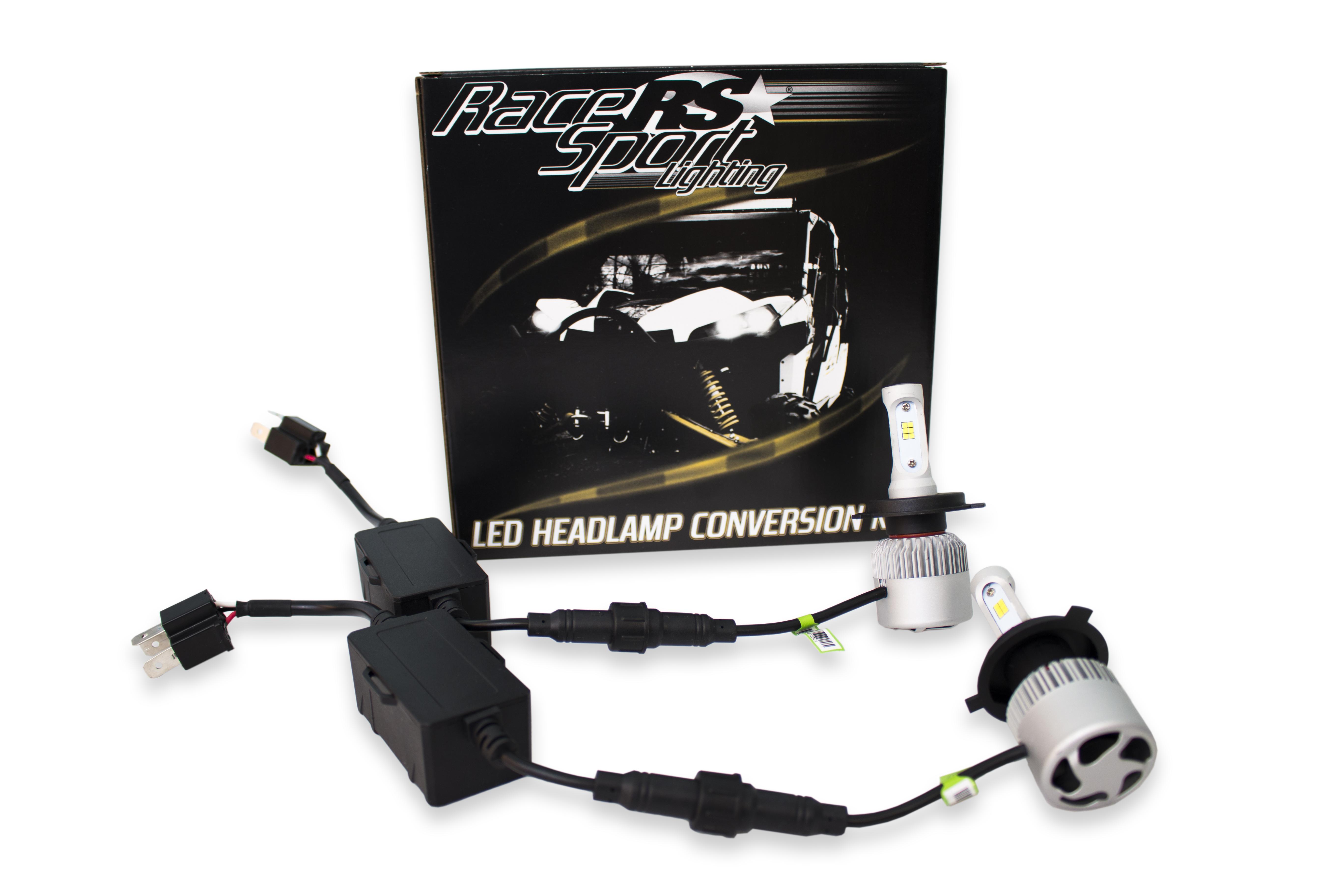 Race Sport Lighting 9012LEDDS DRIVE Series 9012 2,100 LUX Driverless Plug-&-Play LED Headlight Kit