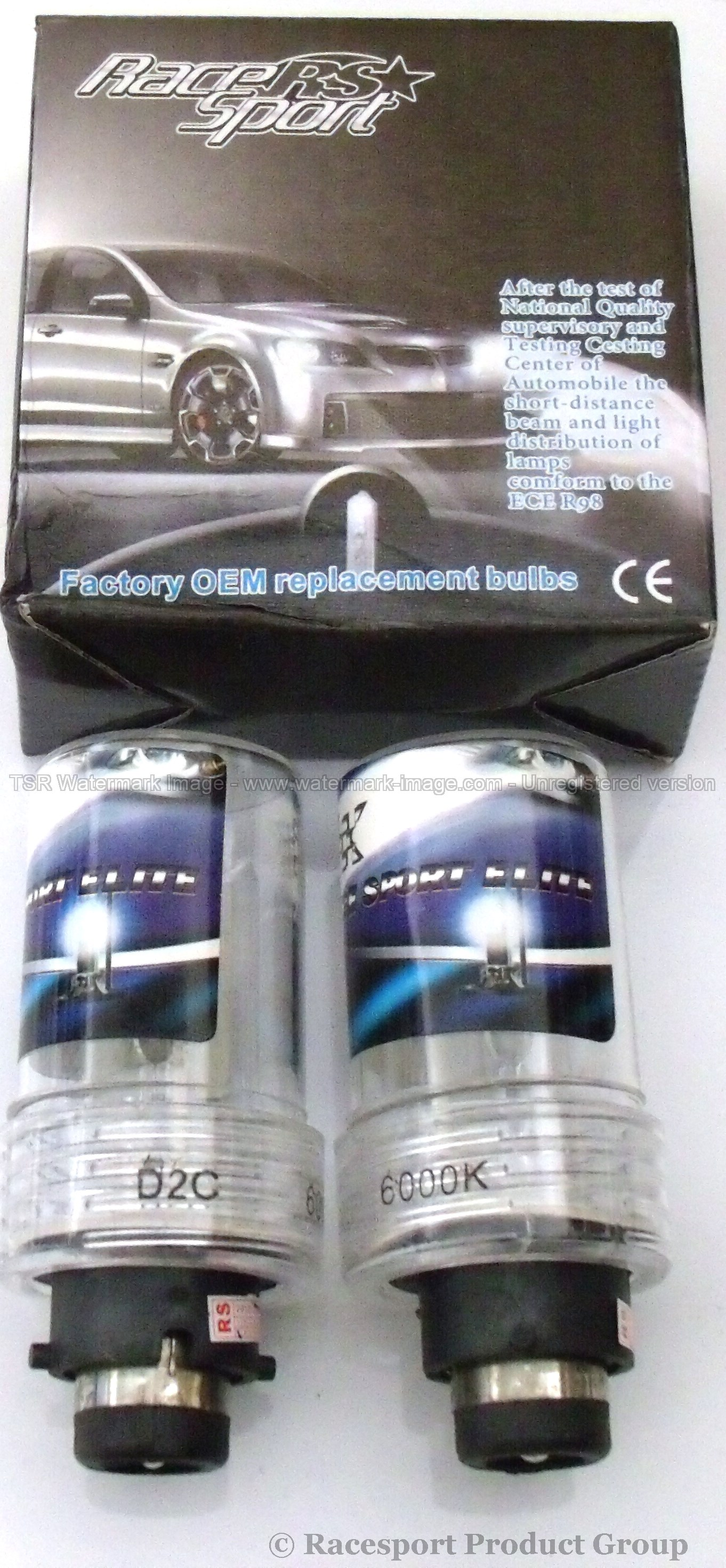 Race Sport Lighting RS-D48K-RB Professional 3yr D4 OEM Factory HID replacement Bulbs
