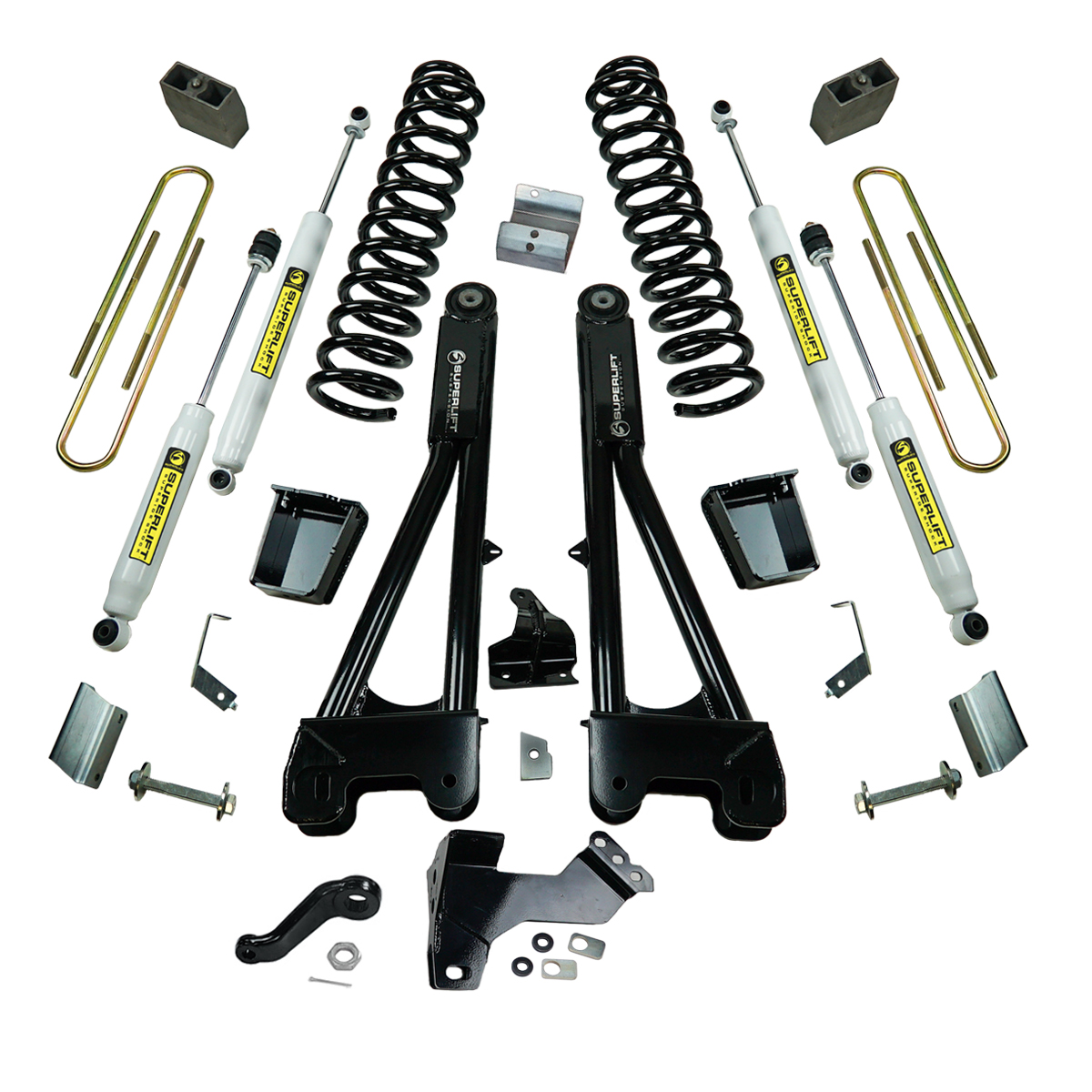 Superlift K989 6 inch Lift Kit with Replacement Radius Arms and Superlift Shocks