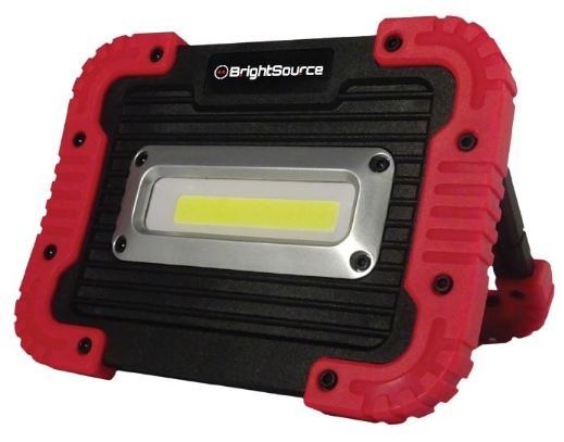 BrightSource 791102R 5in. x 7in. Rechargeable Portable Work Light; Flood Pattern; USB cable; 10W