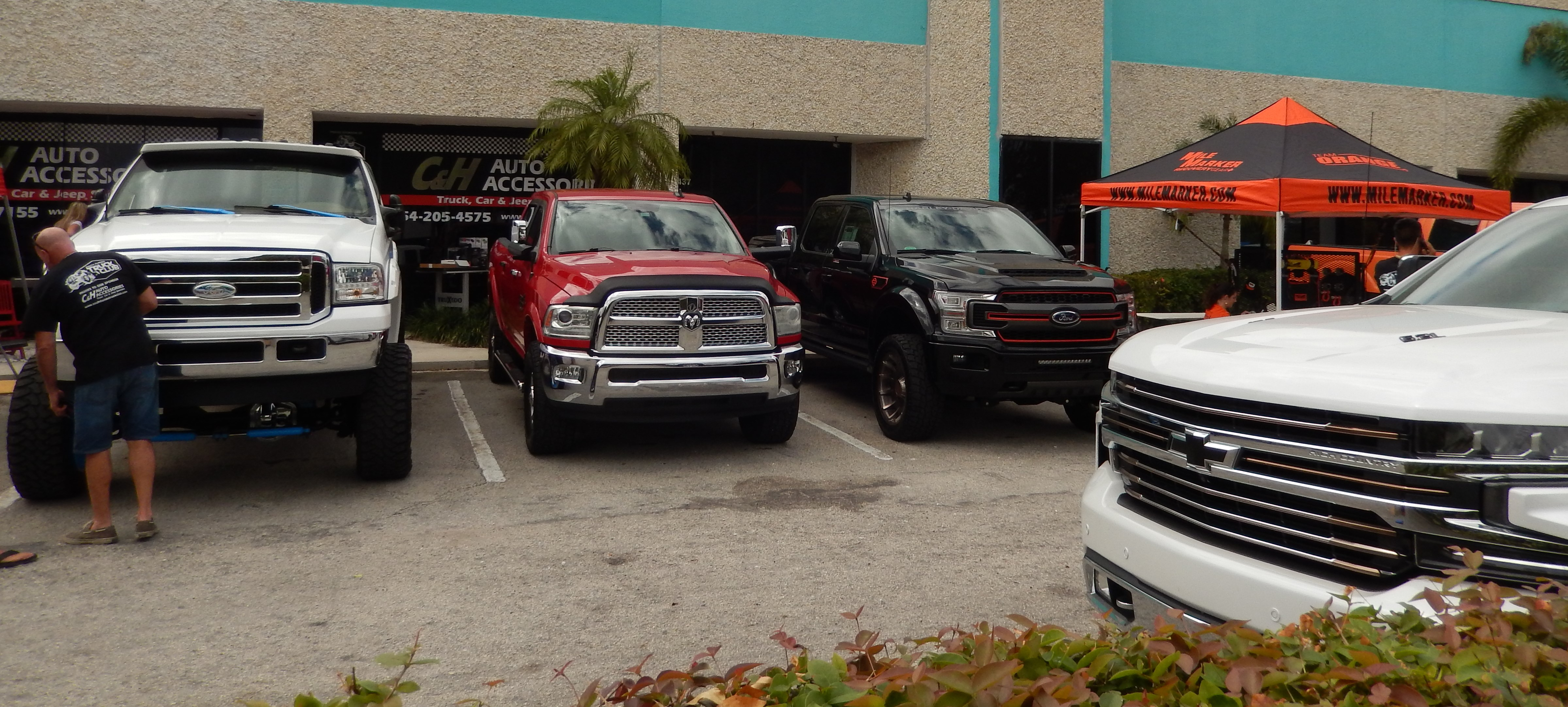 Truck show at the store