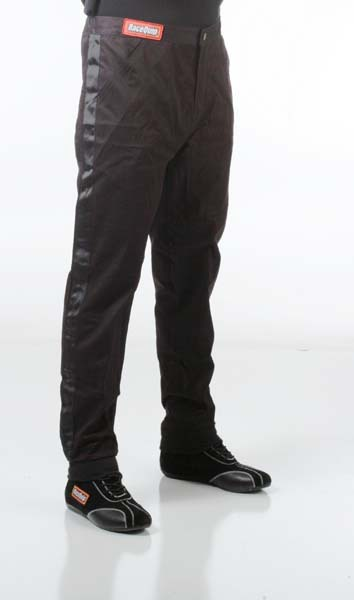 Racequip 112006 SFI-1 Pyrovatex Single-Layer Racing Fire Pants (Black, X-Large)