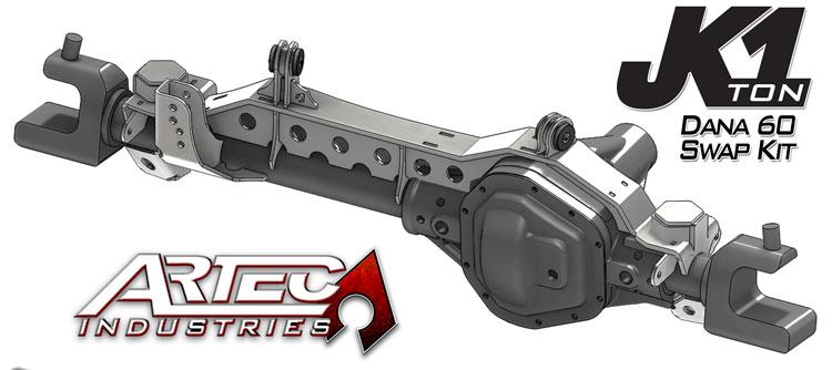 Artec Industries JK6013 - JK 1 Ton Front Dana 60 Swap Kit W/Adjustable Truss Upper Link Mount Single Artec Industries