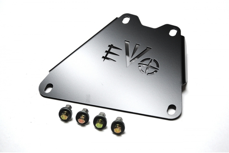 EVO Manufacturing EVO-1103B - EVO 2007-2011 JK 3.8L Skid Connection, Black Powdercoat - 2007-2011 Jeep Wrangler JK/JKU