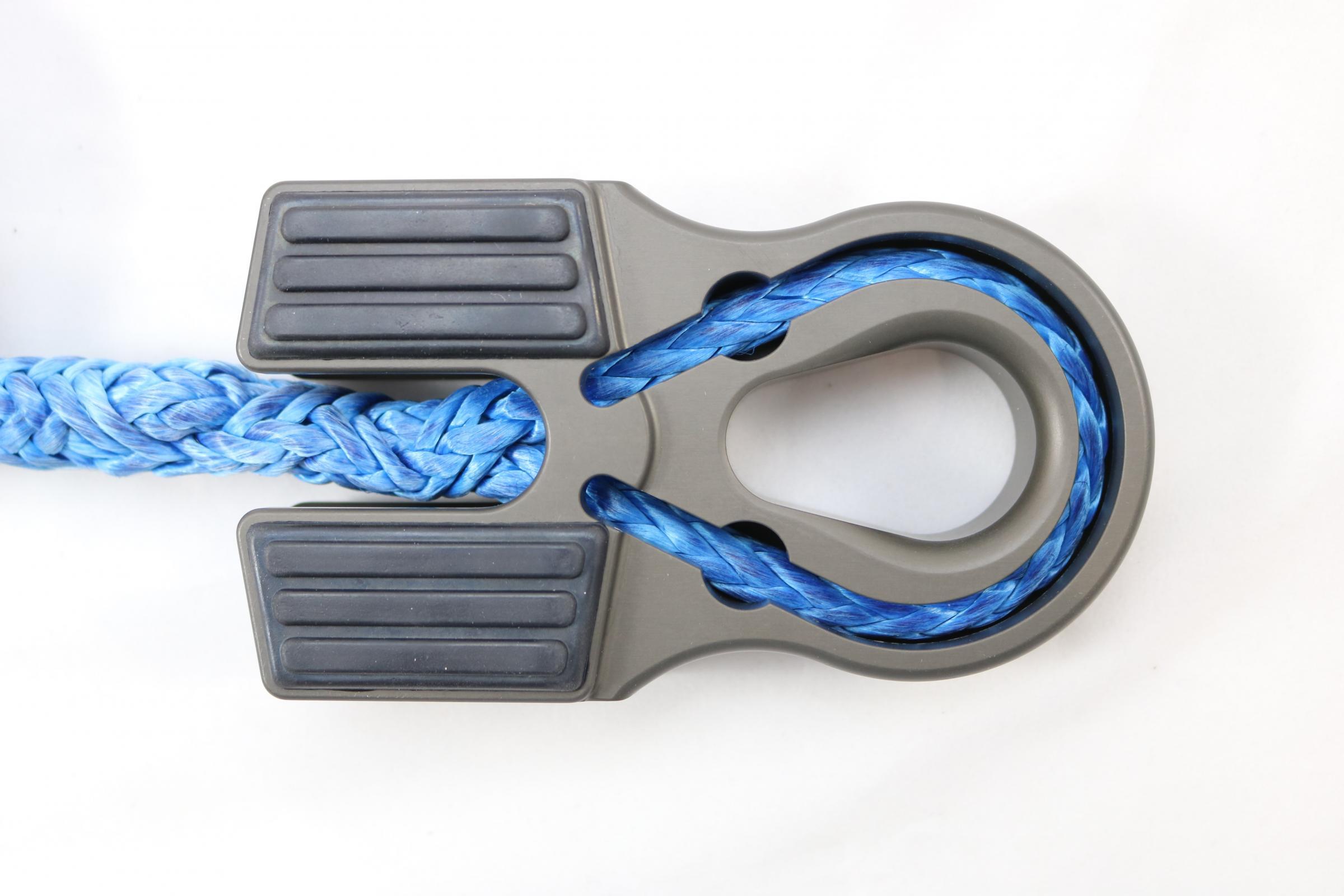 Factor 55 00375-06 - Winch Line Shackle Mount Splice On Foldable Gray