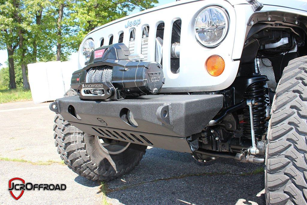 JCR Offroad JKSD-FD-PC - JK Front Lower Bumper Skid Plate (Dagger, Defender) Powder Coat