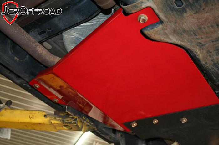 JCR Offroad JKSD-TC-BARE - JK Transfer Case Skid Plate 07-18 Bare