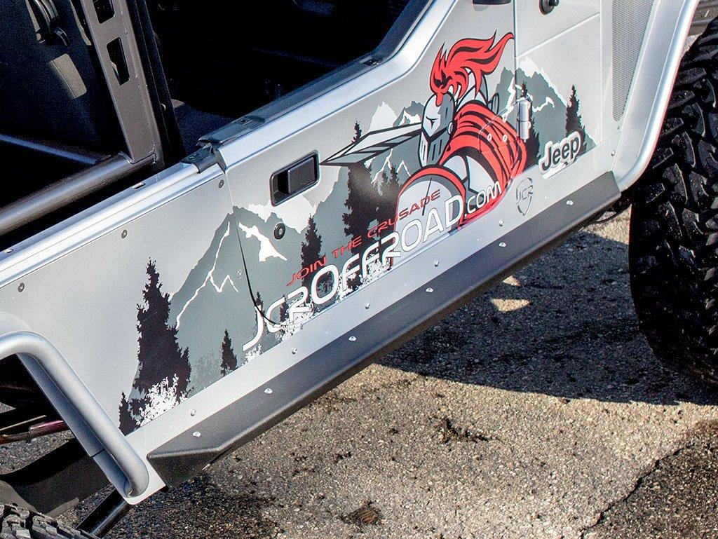 JCR Offroad SWBSL-CR-LJ-PC - LJ Rock Sliders Crusader 97-06 Powder Coat
