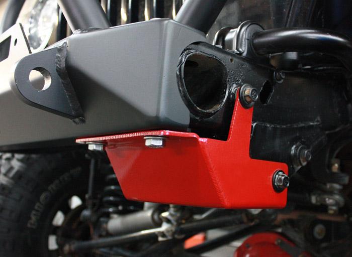 JCR Offroad TJSD-STR-BARE - TJ/LJ Steering Box Skid 97-06 Bare