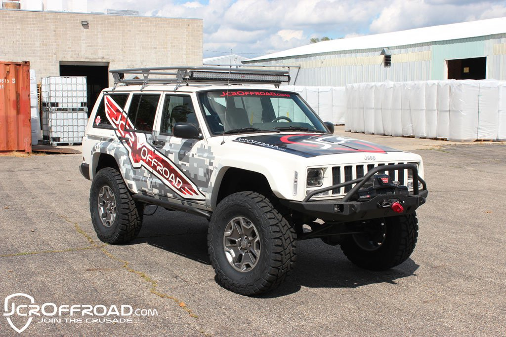 JCR Offroad XJRK-A-PC - XJ Adventure Roof Rack 84-01 Powder Coat