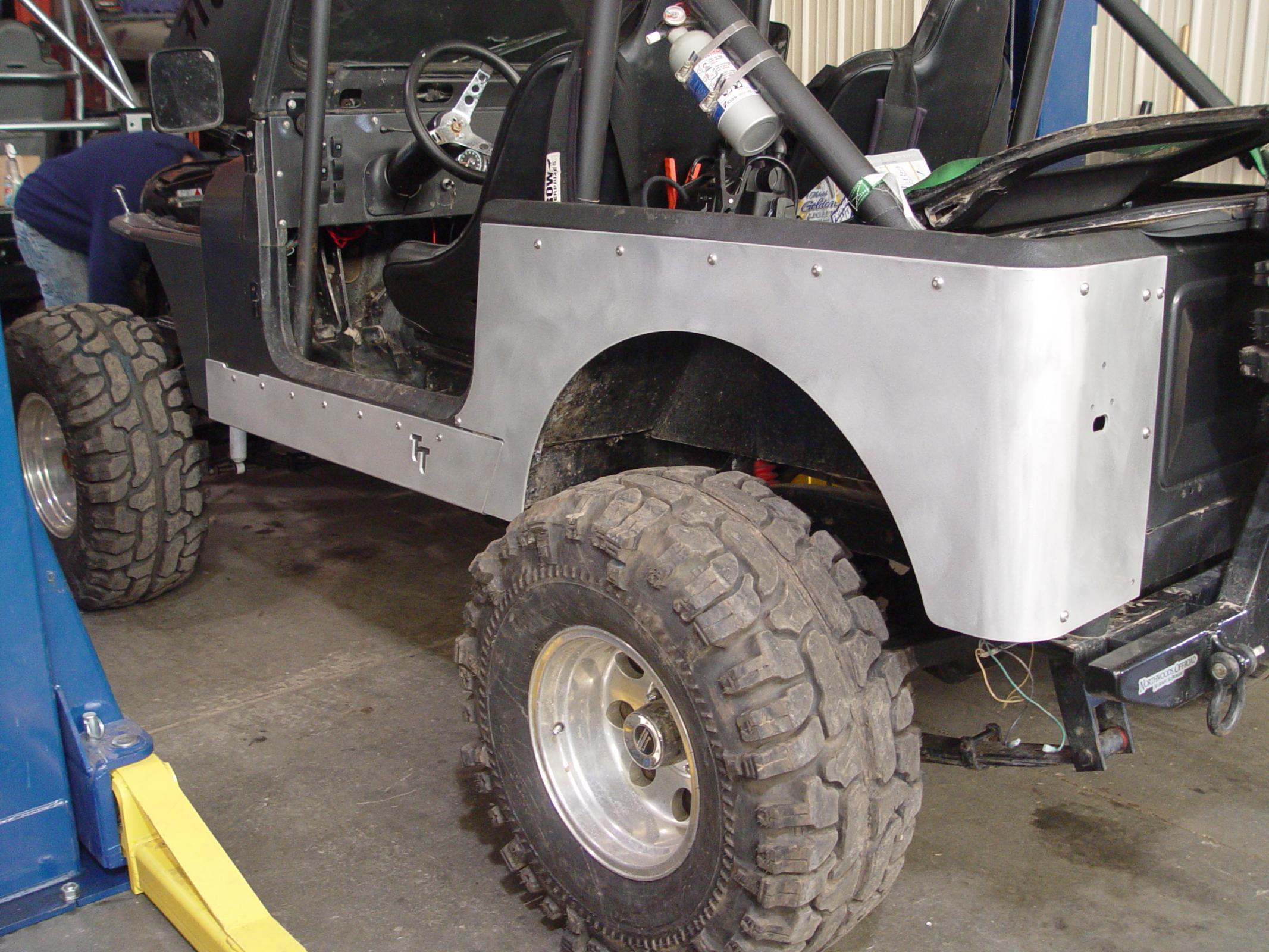TNT Customs C0CLED - Jeep CJ Corner Guard No Flare 4 Inch LED Cutouts 72-86 Jeep CJ7,