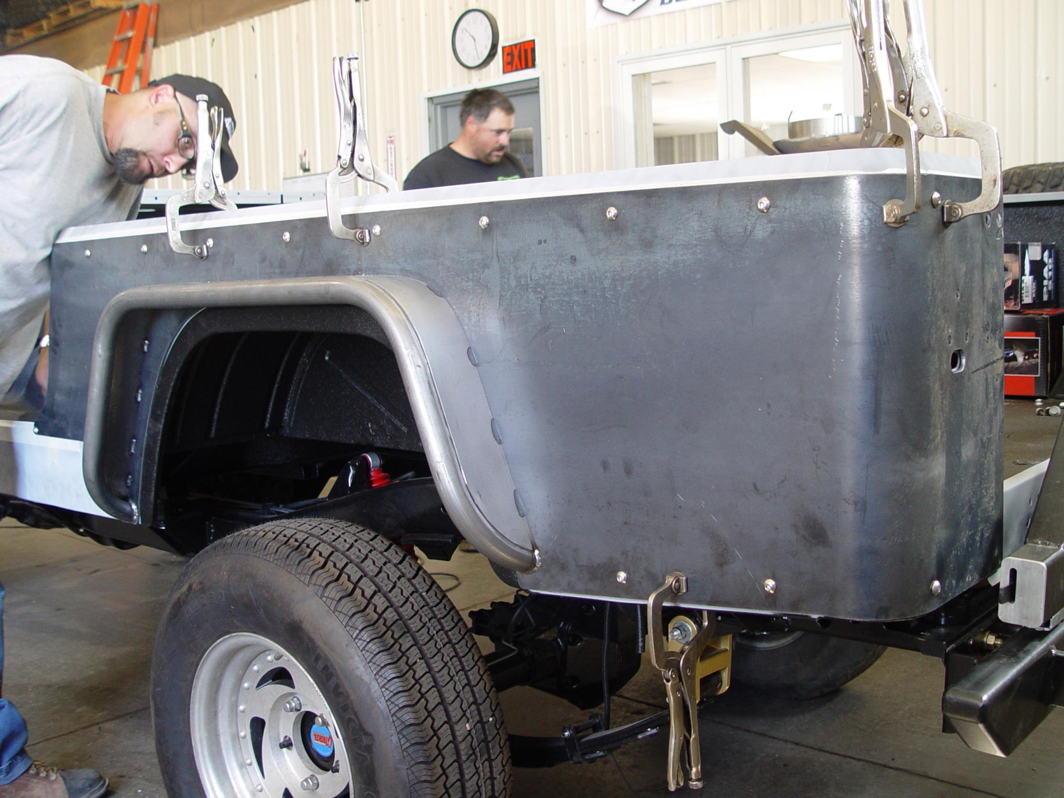 TNT Customs C80CSTK - Jeep CJ8 Corner Guard No Flare Stock Light Mounts 81-85 Jeep CJ8 Scrambler