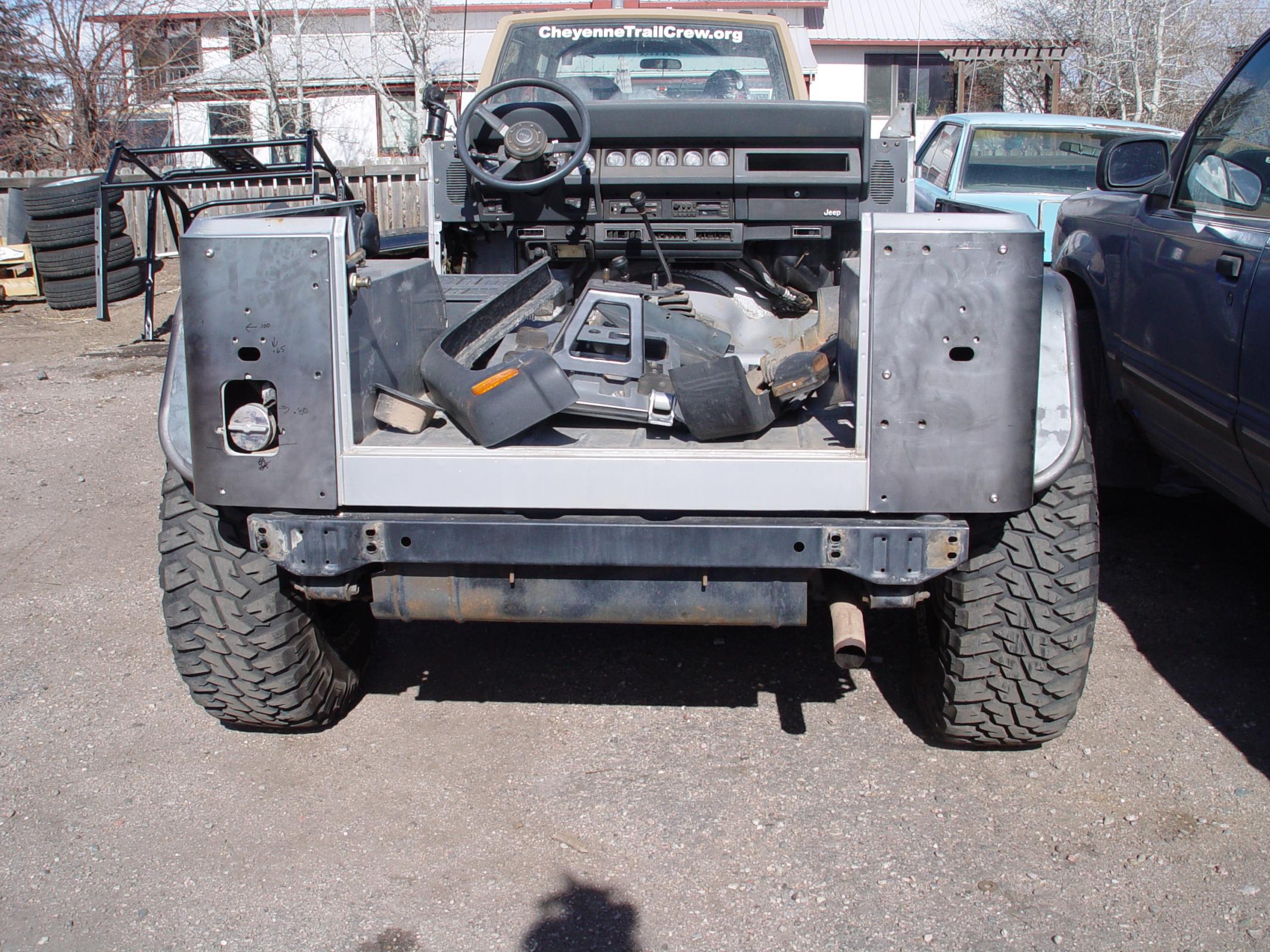 TNT Customs Y3CLED - YJ Corner Armor 3 Inch Flare Full Length 4 Inch LED Cutouts 87-95 Wrangler YJ