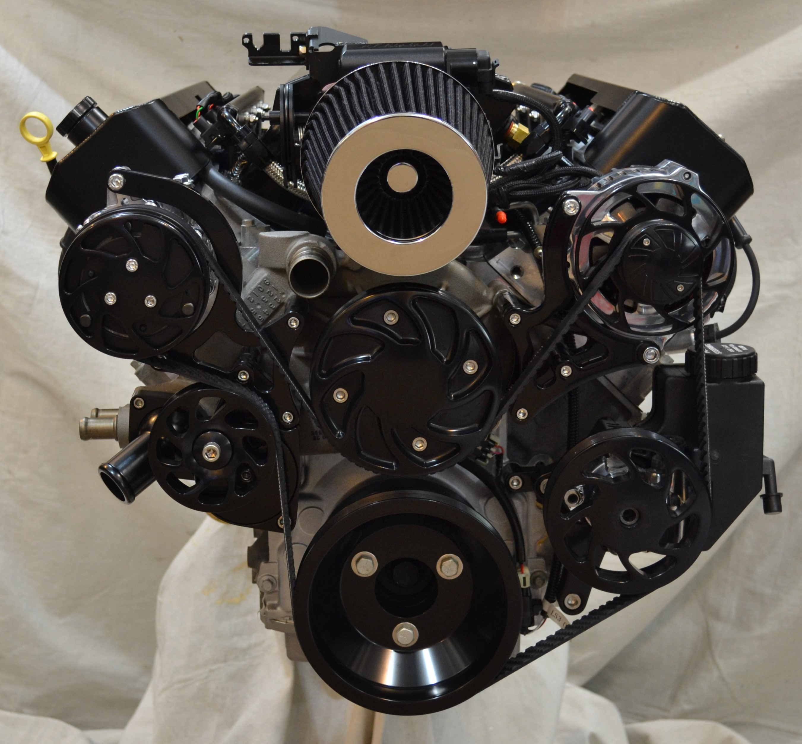 Dyno Tested LS3 500HP Deluxe Black Trim Engine Package OSSLS3500DFB