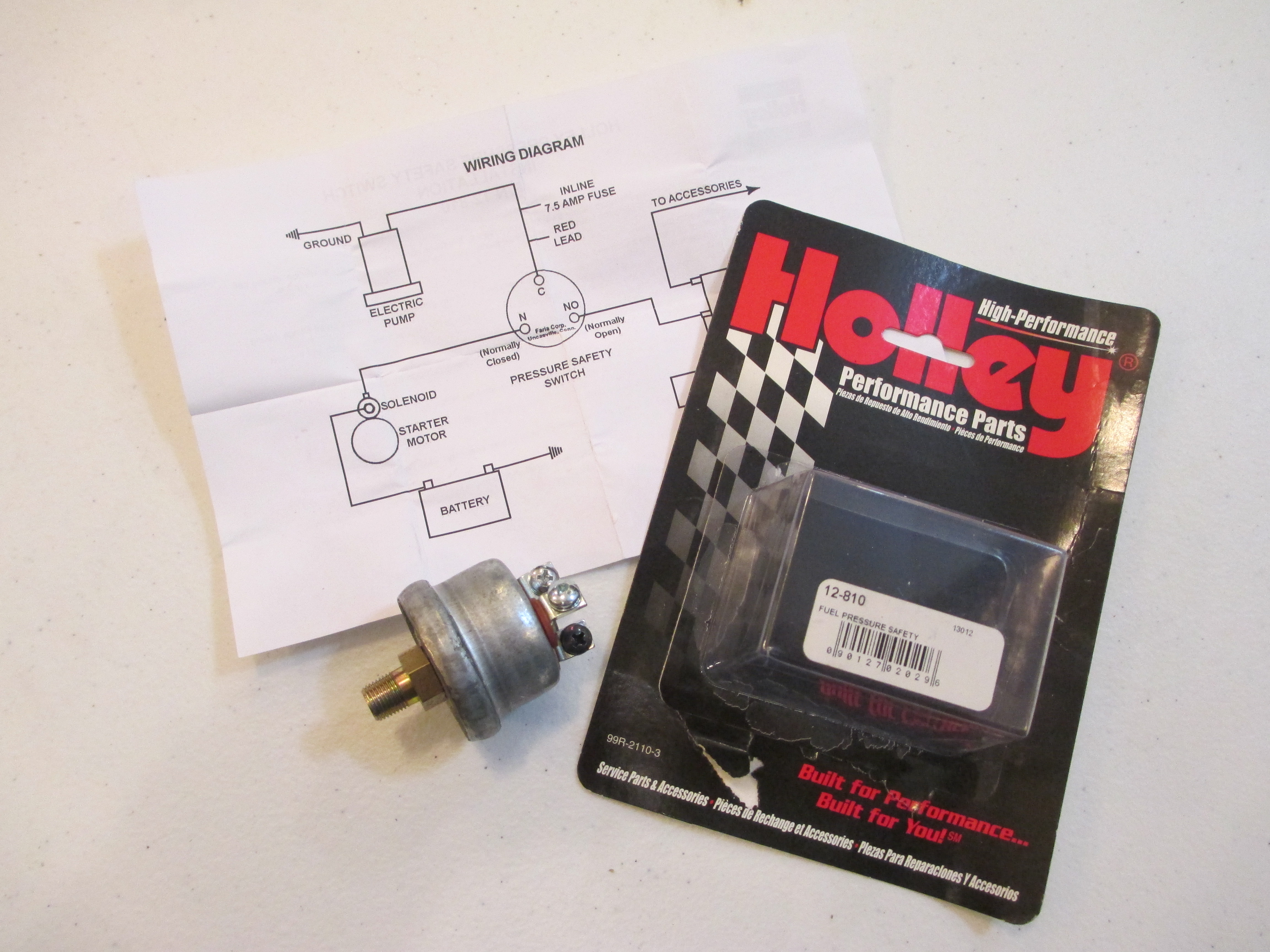 OSS Fuel Pressure Safety Switch