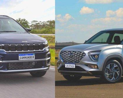 Jeep Commander e Hyundai Creta atendem dois extremos entre os SUVs