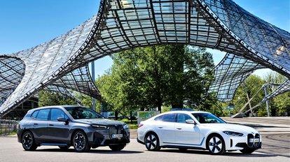 BMW inicia invasão elétrica com o SUV iX e o sedã i4