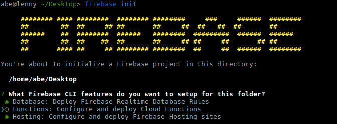 Firebase CLI welcome