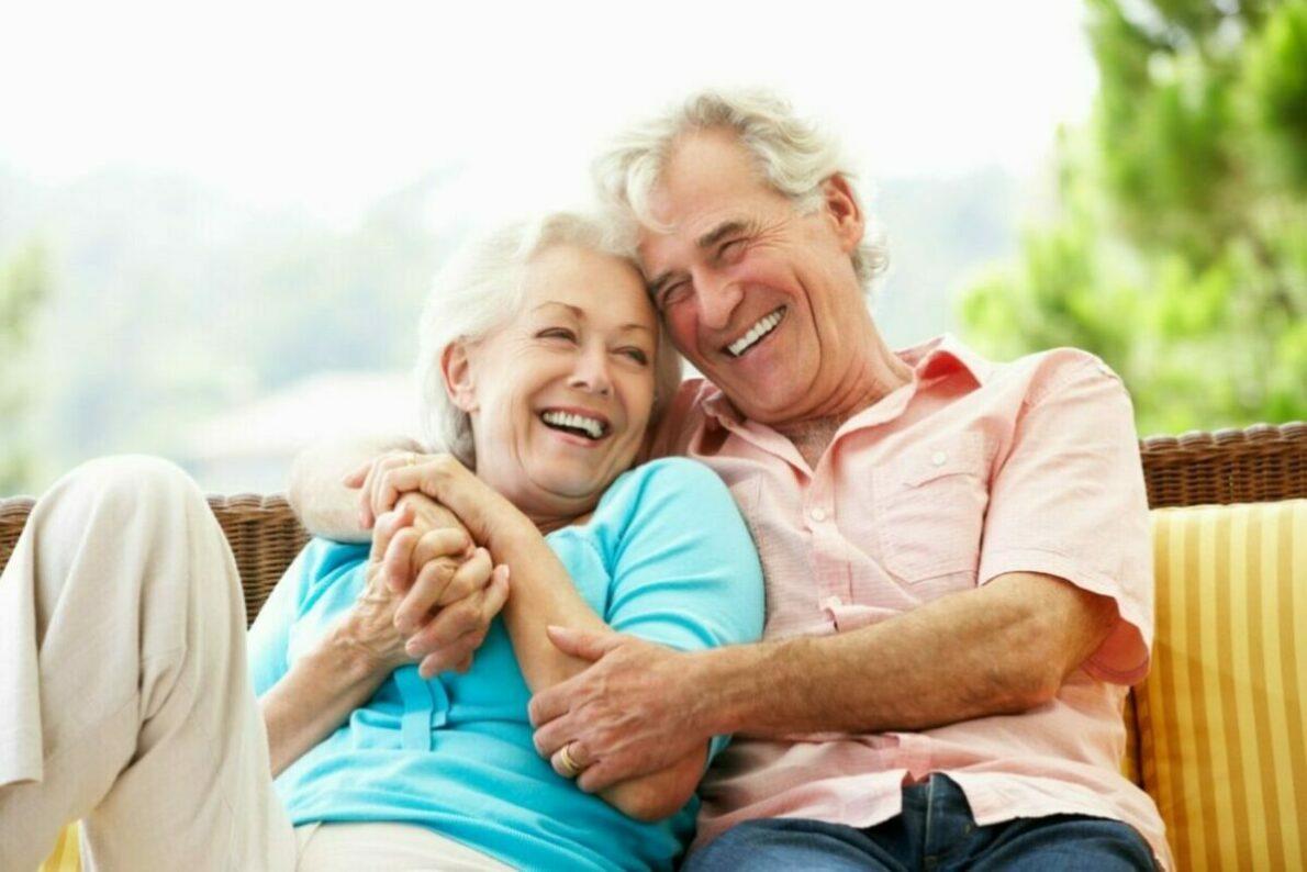 A senior couple at an entrance fee community.